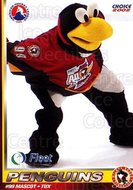 2001-02 Wilkes-Barre Scranton Penguins #25 Mascot<br/>10 In Stock - $3.00 each - <a href=https://centericecollectibles.foxycart.com/cart?name=2001-02%20Wilkes-Barre%20Scranton%20Penguins%20%2325%20Mascot...&quantity_max=10&price=$3.00&code=100072 class=foxycart> Buy it now! </a>