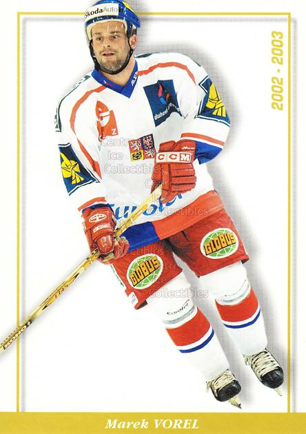 2003-04 Czech National Team Postcards #30 Marek Vorel<br/>4 In Stock - $3.00 each - <a href=https://centericecollectibles.foxycart.com/cart?name=2003-04%20Czech%20National%20Team%20Postcards%20%2330%20Marek%20Vorel...&quantity_max=4&price=$3.00&code=100105 class=foxycart> Buy it now! </a>