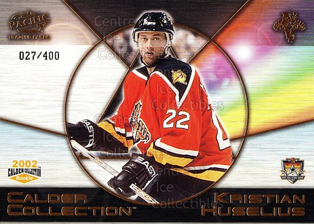 2002 Pacific Calder AS Redemption Gold #5 Kristian Huselius<br/>11 In Stock - $5.00 each - <a href=https://centericecollectibles.foxycart.com/cart?name=2002%20Pacific%20Calder%20AS%20Redemption%20Gold%20%235%20Kristian%20Huseli...&quantity_max=11&price=$5.00&code=100134 class=foxycart> Buy it now! </a>