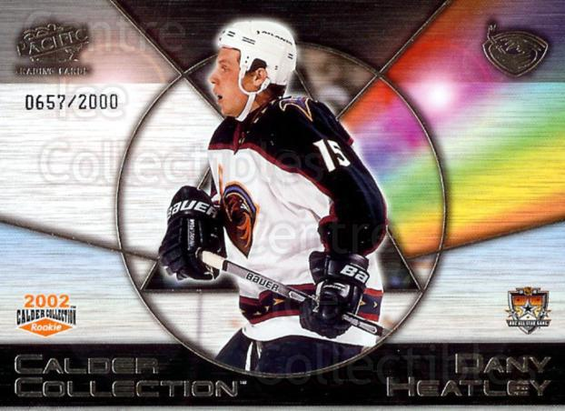 2002 Pacific Calder AS Redemption #1 Dany Heatley<br/>5 In Stock - $3.00 each - <a href=https://centericecollectibles.foxycart.com/cart?name=2002%20Pacific%20Calder%20AS%20Redemption%20%231%20Dany%20Heatley...&quantity_max=5&price=$3.00&code=100138 class=foxycart> Buy it now! </a>