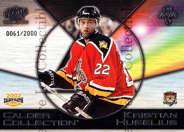 2002 Pacific Calder AS Redemption #5 Kristian Huselius<br/>4 In Stock - $3.00 each - <a href=https://centericecollectibles.foxycart.com/cart?name=2002%20Pacific%20Calder%20AS%20Redemption%20%235%20Kristian%20Huseli...&quantity_max=4&price=$3.00&code=100143 class=foxycart> Buy it now! </a>