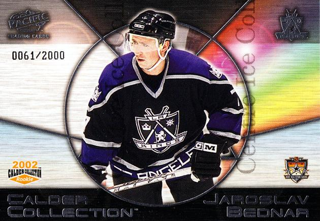 2002 Pacific Calder AS Redemption #6 Jaroslav Bednar<br/>3 In Stock - $3.00 each - <a href=https://centericecollectibles.foxycart.com/cart?name=2002%20Pacific%20Calder%20AS%20Redemption%20%236%20Jaroslav%20Bednar...&quantity_max=3&price=$3.00&code=100144 class=foxycart> Buy it now! </a>