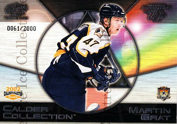 2002 Pacific Calder AS Redemption #7 Martin Erat<br/>1 In Stock - $3.00 each - <a href=https://centericecollectibles.foxycart.com/cart?name=2002%20Pacific%20Calder%20AS%20Redemption%20%237%20Martin%20Erat...&quantity_max=1&price=$3.00&code=100145 class=foxycart> Buy it now! </a>