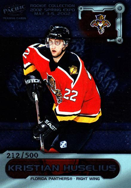 2002 Pacific Toronto Spring Expo Redemption #7 Kristian Huselius<br/>4 In Stock - $3.00 each - <a href=https://centericecollectibles.foxycart.com/cart?name=2002%20Pacific%20Toronto%20Spring%20Expo%20Redemption%20%237%20Kristian%20Huseli...&quantity_max=4&price=$3.00&code=100171 class=foxycart> Buy it now! </a>