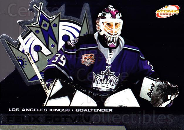 2002-03 Atomic #50 Felix Potvin<br/>5 In Stock - $1.00 each - <a href=https://centericecollectibles.foxycart.com/cart?name=2002-03%20Atomic%20%2350%20Felix%20Potvin...&quantity_max=5&price=$1.00&code=100569 class=foxycart> Buy it now! </a>