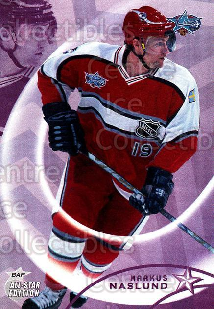 2002-03 BAP AS Edition #64 Markus Naslund<br/>5 In Stock - $1.00 each - <a href=https://centericecollectibles.foxycart.com/cart?name=2002-03%20BAP%20AS%20Edition%20%2364%20Markus%20Naslund...&quantity_max=5&price=$1.00&code=100698 class=foxycart> Buy it now! </a>