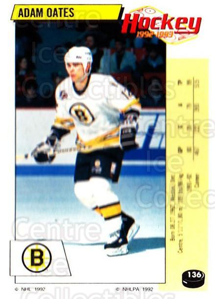 1992-93 Panini Stickers #136 Adam Oates<br/>5 In Stock - $1.00 each - <a href=https://centericecollectibles.foxycart.com/cart?name=1992-93%20Panini%20Stickers%20%23136%20Adam%20Oates...&quantity_max=5&price=$1.00&code=10124 class=foxycart> Buy it now! </a>
