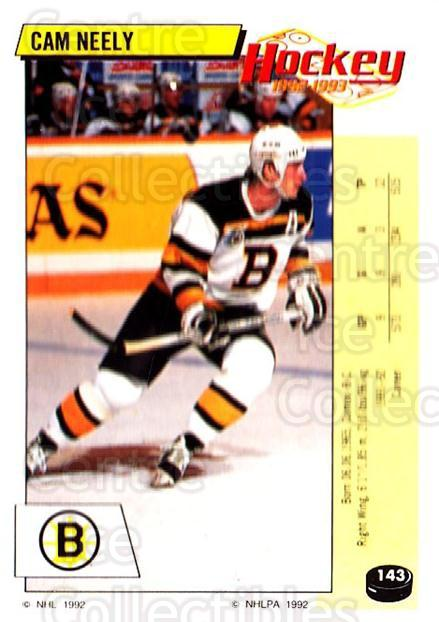 1992-93 Panini Stickers #143 Cam Neely<br/>5 In Stock - $1.00 each - <a href=https://centericecollectibles.foxycart.com/cart?name=1992-93%20Panini%20Stickers%20%23143%20Cam%20Neely...&quantity_max=5&price=$1.00&code=10132 class=foxycart> Buy it now! </a>