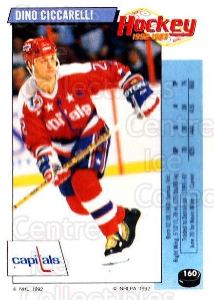 1992-93 Panini Stickers #160 Dino Ciccarelli<br/>7 In Stock - $1.00 each - <a href=https://centericecollectibles.foxycart.com/cart?name=1992-93%20Panini%20Stickers%20%23160%20Dino%20Ciccarelli...&quantity_max=7&price=$1.00&code=10149 class=foxycart> Buy it now! </a>