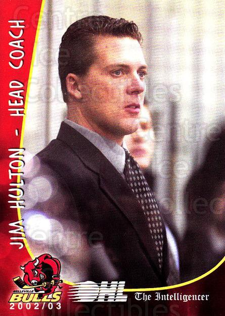 2002-03 Belleville Bulls #24 Jim Hulton, Jamie Pringle, James Boyd<br/>5 In Stock - $3.00 each - <a href=https://centericecollectibles.foxycart.com/cart?name=2002-03%20Belleville%20Bulls%20%2324%20Jim%20Hulton,%20Jam...&price=$3.00&code=101579 class=foxycart> Buy it now! </a>