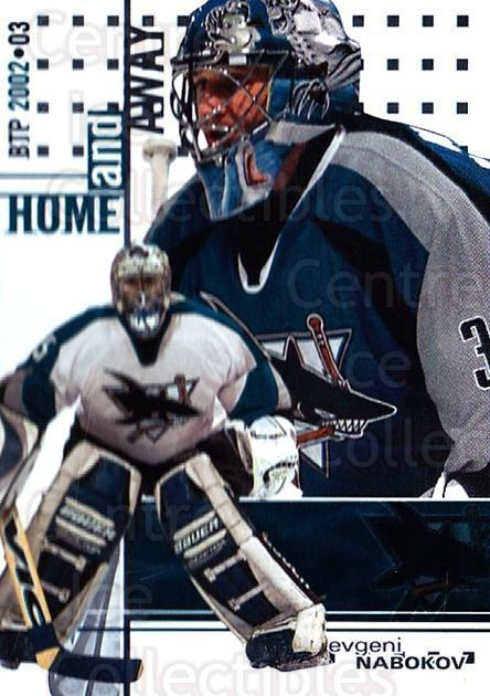2002-03 Between the Pipes #146 Evgeni Nabokov<br/>8 In Stock - $1.00 each - <a href=https://centericecollectibles.foxycart.com/cart?name=2002-03%20Between%20the%20Pipes%20%23146%20Evgeni%20Nabokov...&quantity_max=8&price=$1.00&code=101651 class=foxycart> Buy it now! </a>