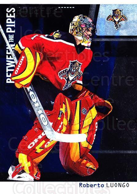 2002-03 Between the Pipes #4 Roberto Luongo<br/>4 In Stock - $2.00 each - <a href=https://centericecollectibles.foxycart.com/cart?name=2002-03%20Between%20the%20Pipes%20%234%20Roberto%20Luongo...&quantity_max=4&price=$2.00&code=101679 class=foxycart> Buy it now! </a>