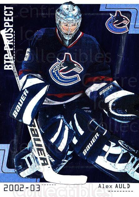 2002-03 Between the Pipes #74 Alex Auld<br/>3 In Stock - $1.00 each - <a href=https://centericecollectibles.foxycart.com/cart?name=2002-03%20Between%20the%20Pipes%20%2374%20Alex%20Auld...&quantity_max=3&price=$1.00&code=101711 class=foxycart> Buy it now! </a>