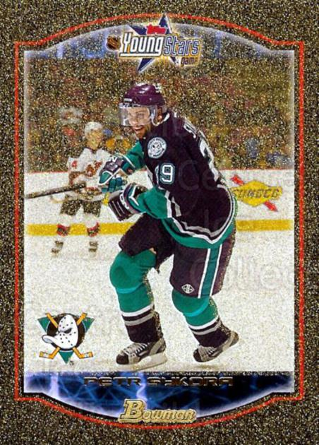 2002-03 Bowman YoungStars Gold #66 Petr Sykora<br/>1 In Stock - $3.00 each - <a href=https://centericecollectibles.foxycart.com/cart?name=2002-03%20Bowman%20YoungStars%20Gold%20%2366%20Petr%20Sykora...&quantity_max=1&price=$3.00&code=101741 class=foxycart> Buy it now! </a>