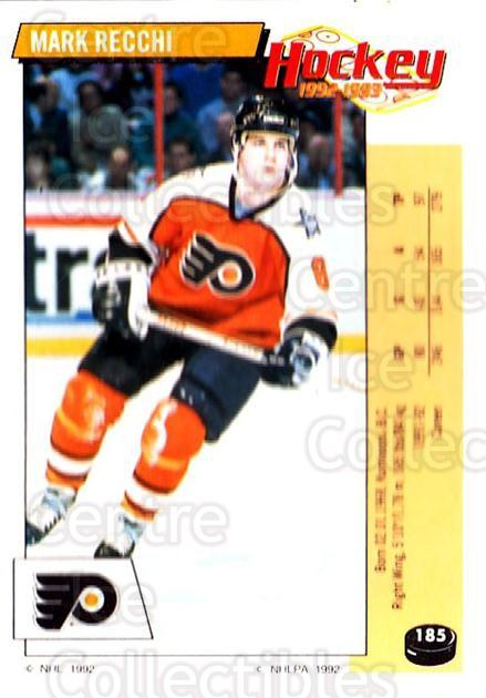 1992-93 Panini Stickers #185 Mark Recchi<br/>7 In Stock - $1.00 each - <a href=https://centericecollectibles.foxycart.com/cart?name=1992-93%20Panini%20Stickers%20%23185%20Mark%20Recchi...&quantity_max=7&price=$1.00&code=10175 class=foxycart> Buy it now! </a>