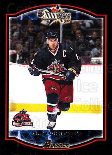 2002-03 Bowman YoungStars #103 Ray Whitney<br/>6 In Stock - $1.00 each - <a href=https://centericecollectibles.foxycart.com/cart?name=2002-03%20Bowman%20YoungStars%20%23103%20Ray%20Whitney...&quantity_max=6&price=$1.00&code=101827 class=foxycart> Buy it now! </a>