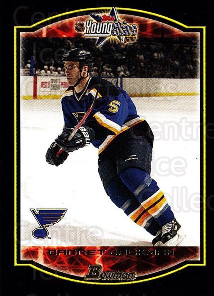 2002-03 Bowman YoungStars #127 Barret Jackman<br/>4 In Stock - $1.00 each - <a href=https://centericecollectibles.foxycart.com/cart?name=2002-03%20Bowman%20YoungStars%20%23127%20Barret%20Jackman...&quantity_max=4&price=$1.00&code=101848 class=foxycart> Buy it now! </a>