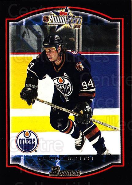 2002-03 Bowman YoungStars #18 Ryan Smyth<br/>7 In Stock - $1.00 each - <a href=https://centericecollectibles.foxycart.com/cart?name=2002-03%20Bowman%20YoungStars%20%2318%20Ryan%20Smyth...&quantity_max=7&price=$1.00&code=101886 class=foxycart> Buy it now! </a>