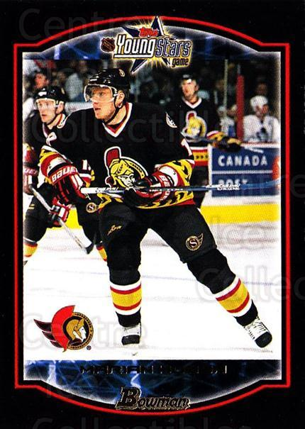 2002-03 Bowman YoungStars #20 Marian Hossa<br/>8 In Stock - $1.00 each - <a href=https://centericecollectibles.foxycart.com/cart?name=2002-03%20Bowman%20YoungStars%20%2320%20Marian%20Hossa...&quantity_max=8&price=$1.00&code=101888 class=foxycart> Buy it now! </a>