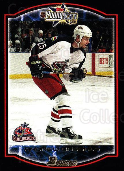 2002-03 Bowman YoungStars #39 Andrew Cassels<br/>6 In Stock - $1.00 each - <a href=https://centericecollectibles.foxycart.com/cart?name=2002-03%20Bowman%20YoungStars%20%2339%20Andrew%20Cassels...&quantity_max=6&price=$1.00&code=101907 class=foxycart> Buy it now! </a>