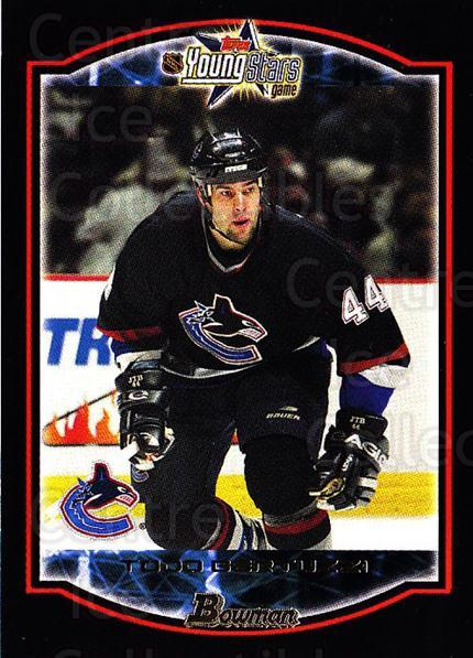 2002-03 Bowman YoungStars #4 Todd Bertuzzi<br/>5 In Stock - $1.00 each - <a href=https://centericecollectibles.foxycart.com/cart?name=2002-03%20Bowman%20YoungStars%20%234%20Todd%20Bertuzzi...&quantity_max=5&price=$1.00&code=101908 class=foxycart> Buy it now! </a>