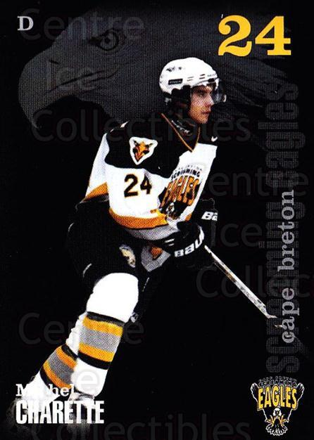 2002-03 Cape Breton Screaming Eagles #3 Michel Charette<br/>6 In Stock - $3.00 each - <a href=https://centericecollectibles.foxycart.com/cart?name=2002-03%20Cape%20Breton%20Screaming%20Eagles%20%233%20Michel%20Charette...&price=$3.00&code=102000 class=foxycart> Buy it now! </a>