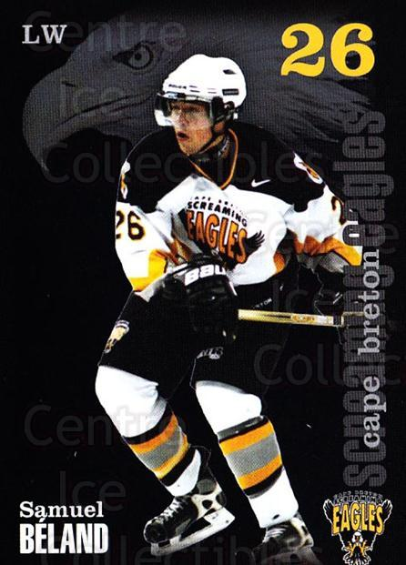 2002-03 Cape Breton Screaming Eagles #2 Samuel Beland<br/>6 In Stock - $3.00 each - <a href=https://centericecollectibles.foxycart.com/cart?name=2002-03%20Cape%20Breton%20Screaming%20Eagles%20%232%20Samuel%20Beland...&quantity_max=6&price=$3.00&code=102001 class=foxycart> Buy it now! </a>