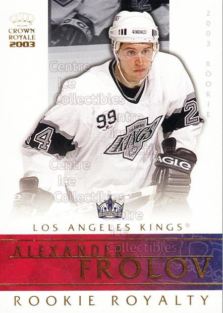 2002-03 Crown Royale Rookie Royalty #13 Alexander Frolov<br/>7 In Stock - $2.00 each - <a href=https://centericecollectibles.foxycart.com/cart?name=2002-03%20Crown%20Royale%20Rookie%20Royalty%20%2313%20Alexander%20Frolo...&quantity_max=7&price=$2.00&code=102166 class=foxycart> Buy it now! </a>