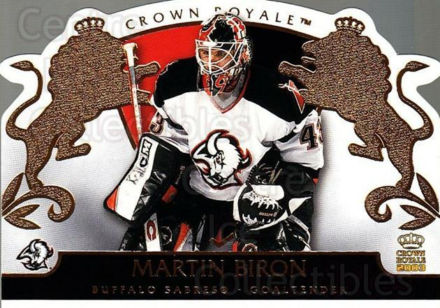 2002-03 Crown Royale #10 Martin Biron<br/>7 In Stock - $1.00 each - <a href=https://centericecollectibles.foxycart.com/cart?name=2002-03%20Crown%20Royale%20%2310%20Martin%20Biron...&quantity_max=7&price=$1.00&code=102183 class=foxycart> Buy it now! </a>