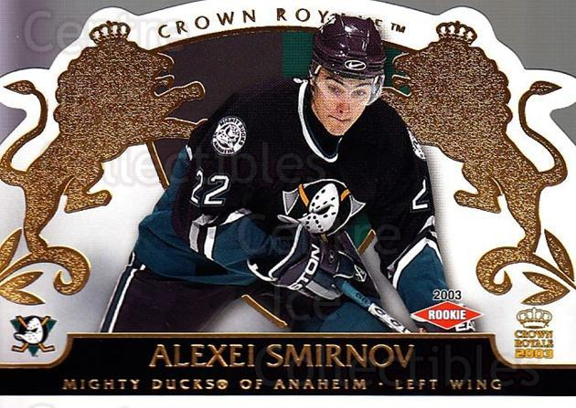 2002-03 Crown Royale #103 Alexei Smirnov<br/>5 In Stock - $3.00 each - <a href=https://centericecollectibles.foxycart.com/cart?name=2002-03%20Crown%20Royale%20%23103%20Alexei%20Smirnov...&quantity_max=5&price=$3.00&code=102187 class=foxycart> Buy it now! </a>