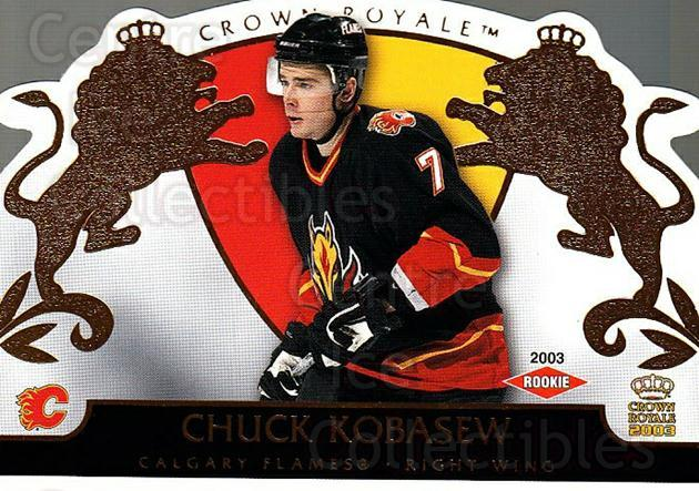 2002-03 Crown Royale #106 Chuck Kobasew<br/>4 In Stock - $3.00 each - <a href=https://centericecollectibles.foxycart.com/cart?name=2002-03%20Crown%20Royale%20%23106%20Chuck%20Kobasew...&quantity_max=4&price=$3.00&code=102188 class=foxycart> Buy it now! </a>