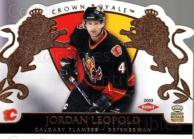 2002-03 Crown Royale #107 Jordan Leopold<br/>3 In Stock - $3.00 each - <a href=https://centericecollectibles.foxycart.com/cart?name=2002-03%20Crown%20Royale%20%23107%20Jordan%20Leopold...&quantity_max=3&price=$3.00&code=102189 class=foxycart> Buy it now! </a>