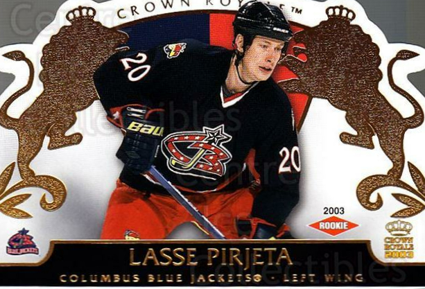 2002-03 Crown Royale #110 Lasse Pirjeta<br/>2 In Stock - $3.00 each - <a href=https://centericecollectibles.foxycart.com/cart?name=2002-03%20Crown%20Royale%20%23110%20Lasse%20Pirjeta...&quantity_max=2&price=$3.00&code=102193 class=foxycart> Buy it now! </a>