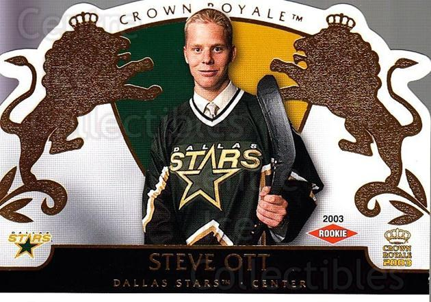 2002-03 Crown Royale #111 Steve Ott<br/>2 In Stock - $3.00 each - <a href=https://centericecollectibles.foxycart.com/cart?name=2002-03%20Crown%20Royale%20%23111%20Steve%20Ott...&quantity_max=2&price=$3.00&code=102194 class=foxycart> Buy it now! </a>