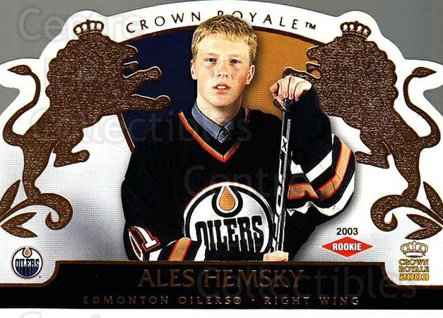 2002-03 Crown Royale #114 Ales Hemsky<br/>1 In Stock - $3.00 each - <a href=https://centericecollectibles.foxycart.com/cart?name=2002-03%20Crown%20Royale%20%23114%20Ales%20Hemsky...&quantity_max=1&price=$3.00&code=102196 class=foxycart> Buy it now! </a>