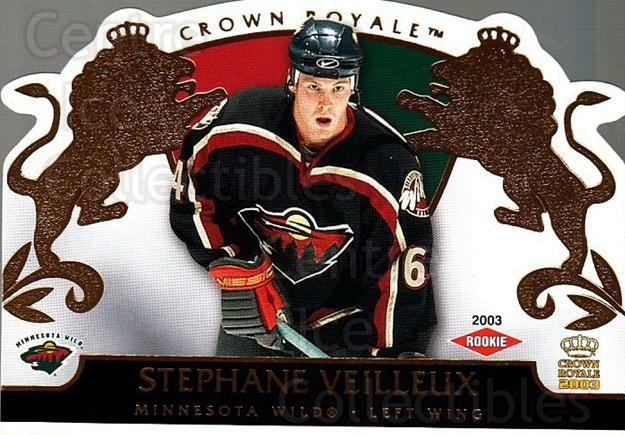 2002-03 Crown Royale #120 Stephane Veilleux<br/>4 In Stock - $3.00 each - <a href=https://centericecollectibles.foxycart.com/cart?name=2002-03%20Crown%20Royale%20%23120%20Stephane%20Veille...&quantity_max=4&price=$3.00&code=102203 class=foxycart> Buy it now! </a>