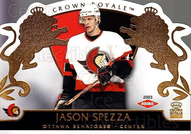 2002-03 Crown Royale #127 Jason Spezza<br/>1 In Stock - $5.00 each - <a href=https://centericecollectibles.foxycart.com/cart?name=2002-03%20Crown%20Royale%20%23127%20Jason%20Spezza...&quantity_max=1&price=$5.00&code=102210 class=foxycart> Buy it now! </a>