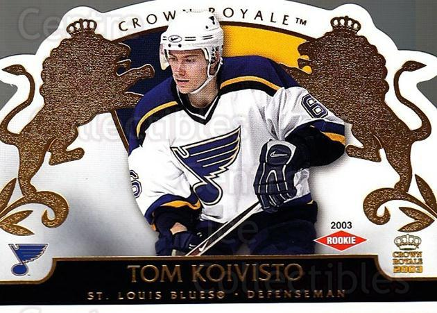 2002-03 Crown Royale #134 Tom Koivisto<br/>5 In Stock - $3.00 each - <a href=https://centericecollectibles.foxycart.com/cart?name=2002-03%20Crown%20Royale%20%23134%20Tom%20Koivisto...&quantity_max=5&price=$3.00&code=102218 class=foxycart> Buy it now! </a>