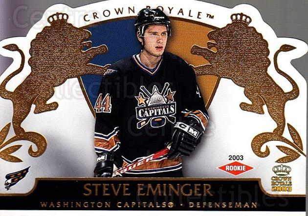 2002-03 Crown Royale #139 Steve Eminger<br/>5 In Stock - $3.00 each - <a href=https://centericecollectibles.foxycart.com/cart?name=2002-03%20Crown%20Royale%20%23139%20Steve%20Eminger...&quantity_max=5&price=$3.00&code=102223 class=foxycart> Buy it now! </a>