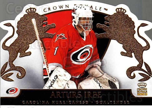 2002-03 Crown Royale #18 Arturs Irbe<br/>2 In Stock - $2.00 each - <a href=https://centericecollectibles.foxycart.com/cart?name=2002-03%20Crown%20Royale%20%2318%20Arturs%20Irbe...&quantity_max=2&price=$2.00&code=102228 class=foxycart> Buy it now! </a>