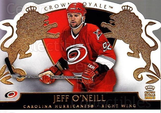 2002-03 Crown Royale #19 Jeff O'Neill<br/>6 In Stock - $1.00 each - <a href=https://centericecollectibles.foxycart.com/cart?name=2002-03%20Crown%20Royale%20%2319%20Jeff%20O'Neill...&quantity_max=6&price=$1.00&code=102229 class=foxycart> Buy it now! </a>