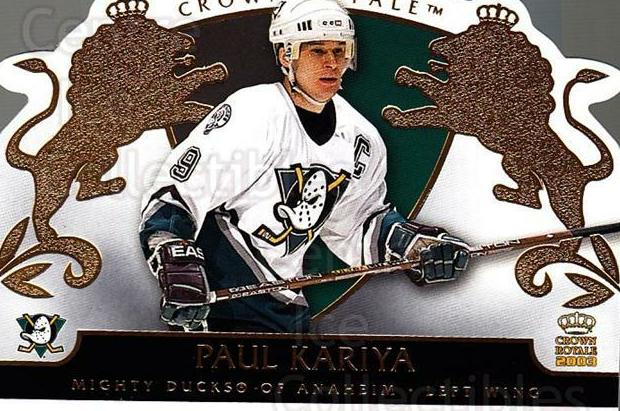 2002-03 Crown Royale #2 Paul Kariya<br/>3 In Stock - $2.00 each - <a href=https://centericecollectibles.foxycart.com/cart?name=2002-03%20Crown%20Royale%20%232%20Paul%20Kariya...&quantity_max=3&price=$2.00&code=102230 class=foxycart> Buy it now! </a>