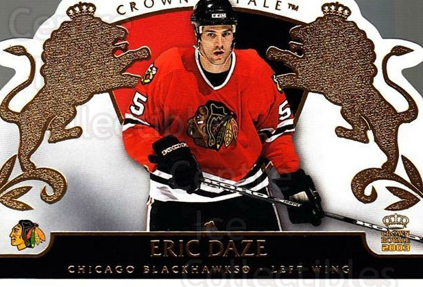 2002-03 Crown Royale #20 Eric Daze<br/>4 In Stock - $1.00 each - <a href=https://centericecollectibles.foxycart.com/cart?name=2002-03%20Crown%20Royale%20%2320%20Eric%20Daze...&quantity_max=4&price=$1.00&code=102231 class=foxycart> Buy it now! </a>