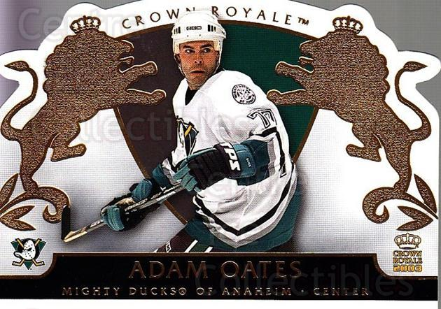 2002-03 Crown Royale #3 Adam Oates<br/>5 In Stock - $1.00 each - <a href=https://centericecollectibles.foxycart.com/cart?name=2002-03%20Crown%20Royale%20%233%20Adam%20Oates...&quantity_max=5&price=$1.00&code=102238 class=foxycart> Buy it now! </a>