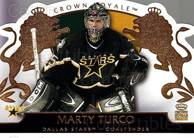 2002-03 Crown Royale #31 Marty Turco<br/>3 In Stock - $1.00 each - <a href=https://centericecollectibles.foxycart.com/cart?name=2002-03%20Crown%20Royale%20%2331%20Marty%20Turco...&quantity_max=3&price=$1.00&code=102240 class=foxycart> Buy it now! </a>