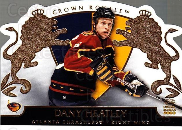 2002-03 Crown Royale #4 Dany Heatley<br/>4 In Stock - $1.00 each - <a href=https://centericecollectibles.foxycart.com/cart?name=2002-03%20Crown%20Royale%20%234%20Dany%20Heatley...&quantity_max=4&price=$1.00&code=102245 class=foxycart> Buy it now! </a>