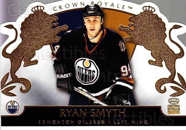2002-03 Crown Royale #41 Ryan Smyth<br/>3 In Stock - $1.00 each - <a href=https://centericecollectibles.foxycart.com/cart?name=2002-03%20Crown%20Royale%20%2341%20Ryan%20Smyth...&quantity_max=3&price=$1.00&code=102247 class=foxycart> Buy it now! </a>