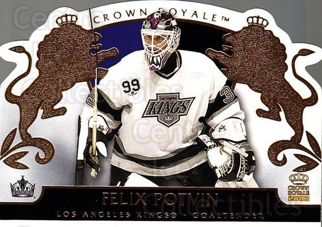 2002-03 Crown Royale #46 Felix Potvin<br/>2 In Stock - $2.00 each - <a href=https://centericecollectibles.foxycart.com/cart?name=2002-03%20Crown%20Royale%20%2346%20Felix%20Potvin...&quantity_max=2&price=$2.00&code=102252 class=foxycart> Buy it now! </a>