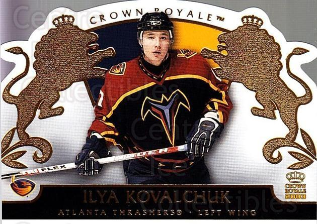 2002-03 Crown Royale #5 Ilya Kovalchuk<br/>4 In Stock - $1.00 each - <a href=https://centericecollectibles.foxycart.com/cart?name=2002-03%20Crown%20Royale%20%235%20Ilya%20Kovalchuk...&quantity_max=4&price=$1.00&code=102256 class=foxycart> Buy it now! </a>