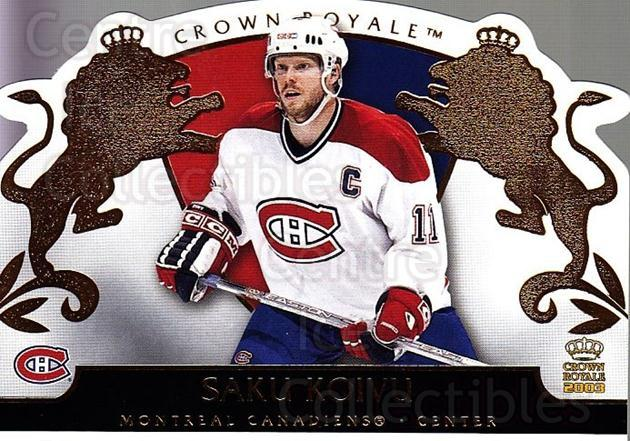 2002-03 Crown Royale #51 Saku Koivu<br/>6 In Stock - $2.00 each - <a href=https://centericecollectibles.foxycart.com/cart?name=2002-03%20Crown%20Royale%20%2351%20Saku%20Koivu...&quantity_max=6&price=$2.00&code=102258 class=foxycart> Buy it now! </a>